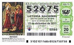 Lotería de Navidad Precval número 52675