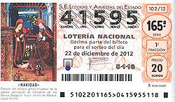 Loteria de Navidad de Precval número 2012